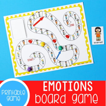 Printable Emotions Board Game.