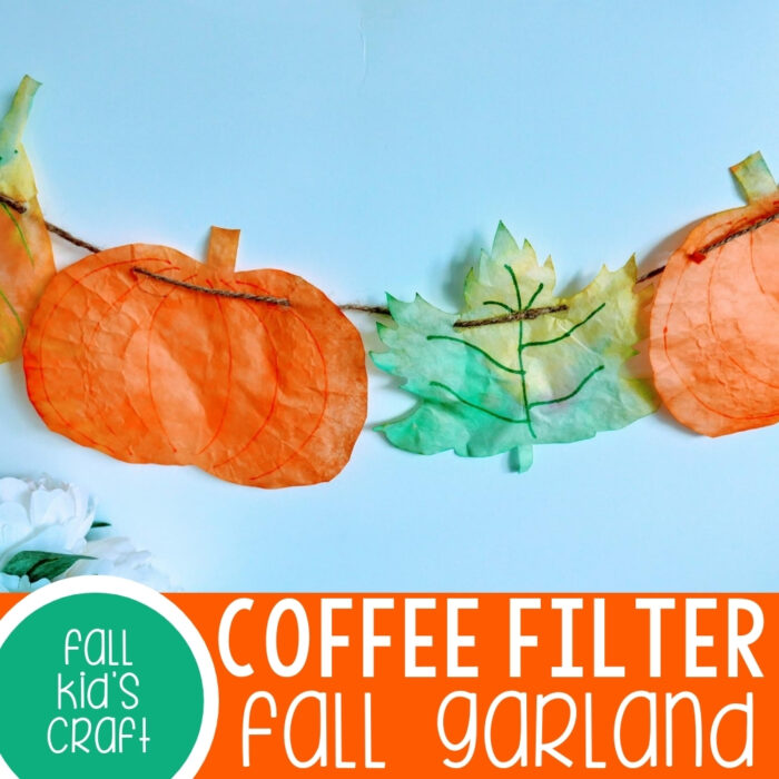 Coffee Filter Fall Garland craft.