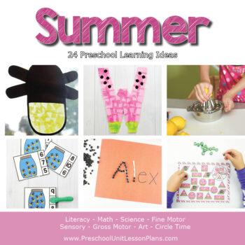 Preschool summer lesson plans
