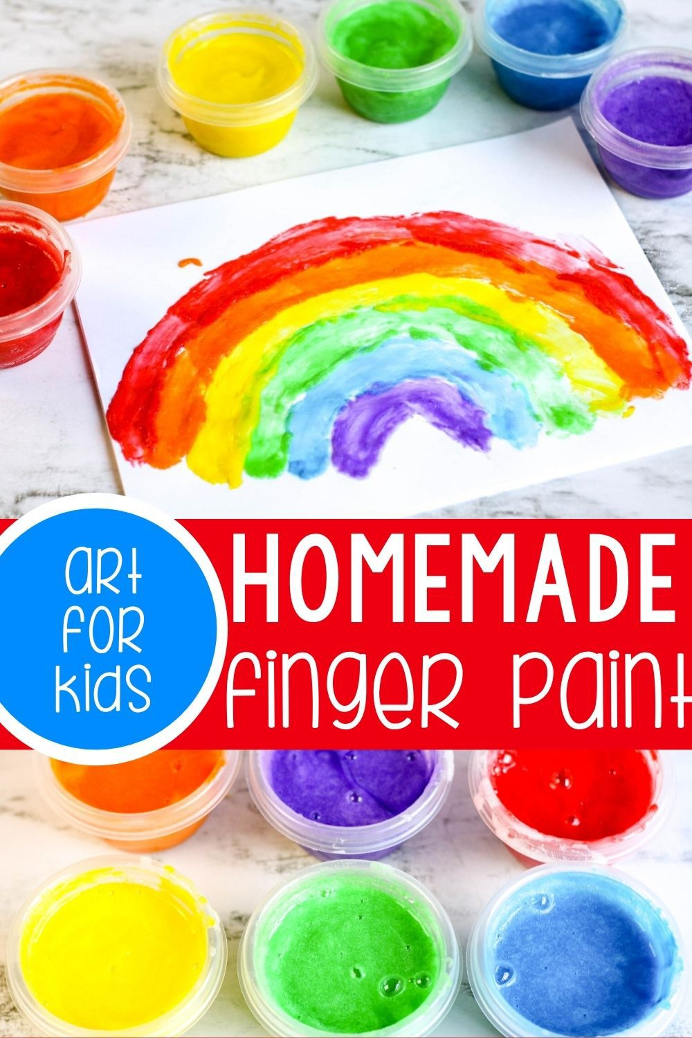 Homemade Finger Paint For Kids