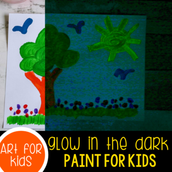 Glow in the dark paint recipe.