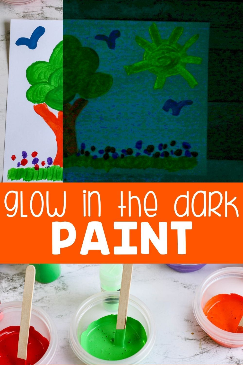 DIY Glow in the dark paint.
