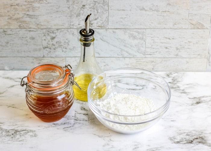 Ingredients for making honey slime.