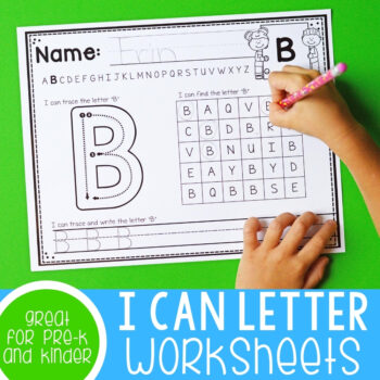 I can letter worksheets.
