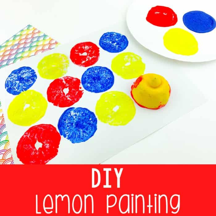 DIY Lemon Painting