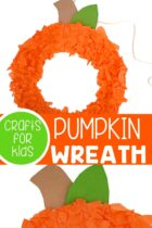 Pumpkin craft for preschoolers.