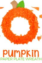 Pumpkin Paper Plate craft for kids.