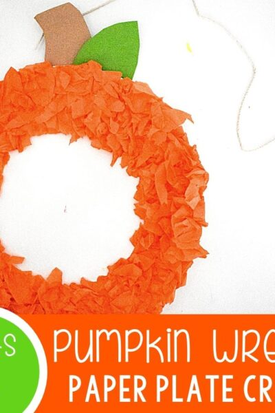 Pumpkin Paper Plat Wreath