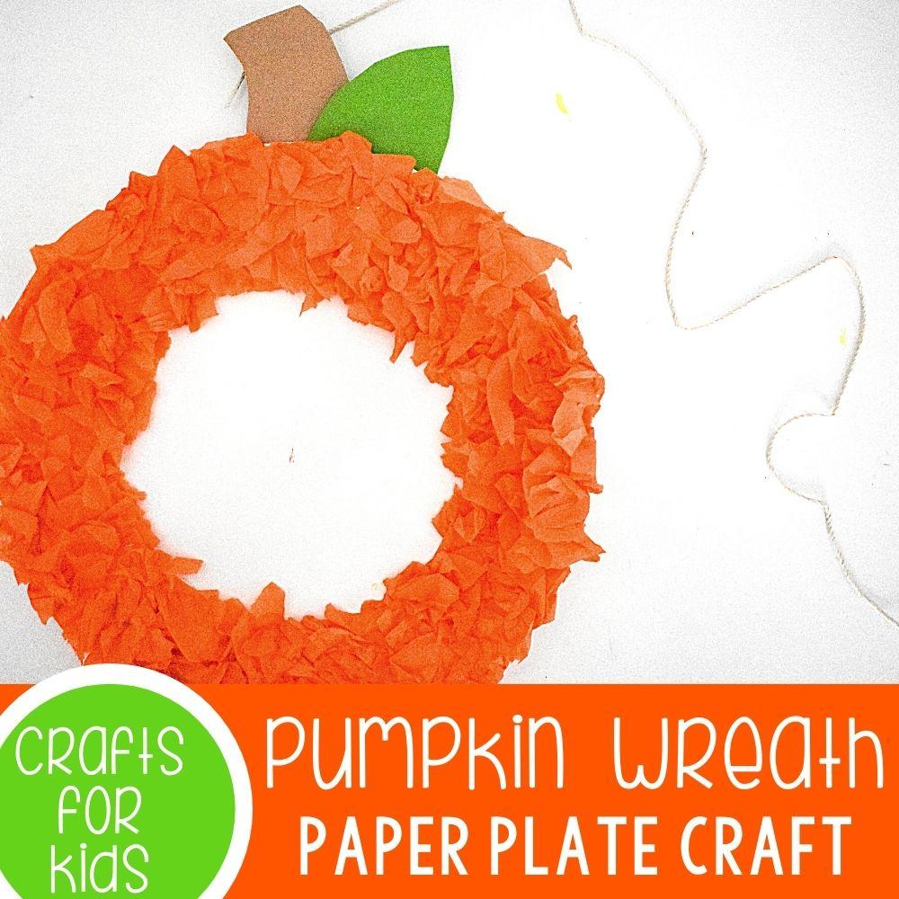 Pumpkin Paper Plat Wreath