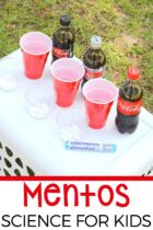 Mentos science experiment for kids.