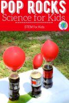 Pop Rocks Science for kids.
