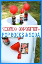 Pop Rocks science experiment for kids.
