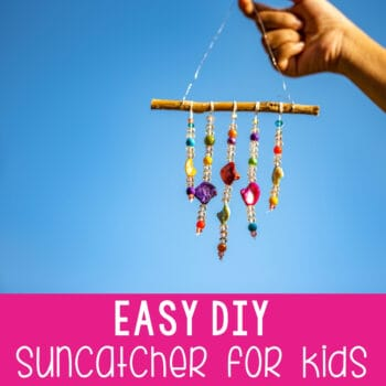 Easy DIY suncatcher for kids.