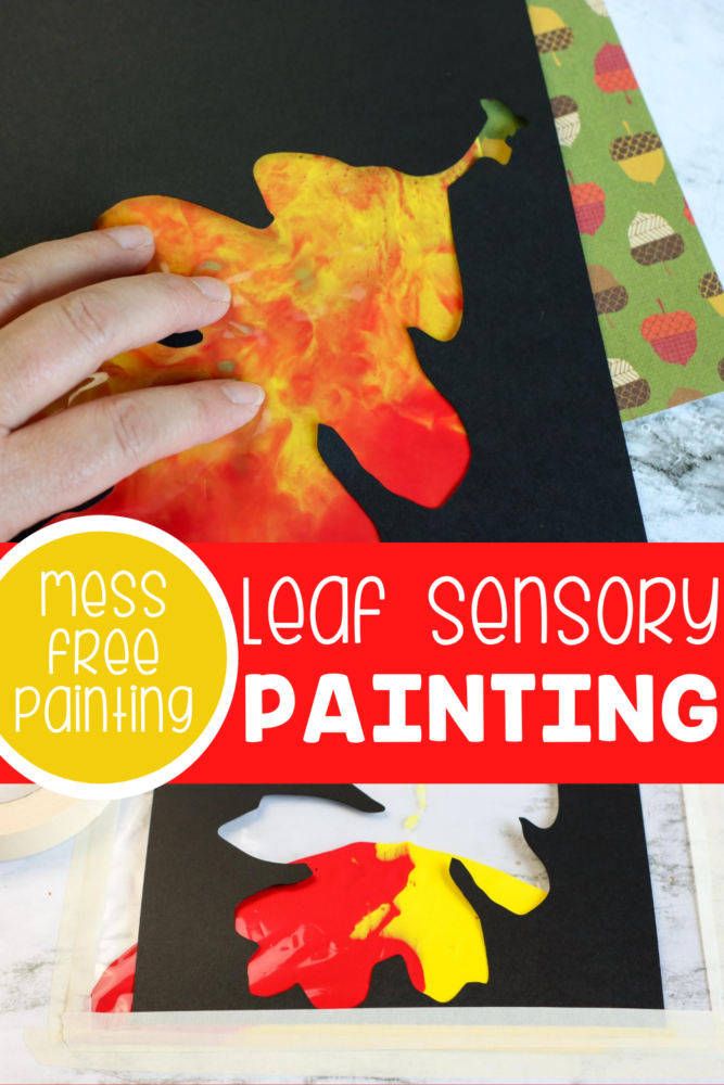 Fall mess-free painting for kids.