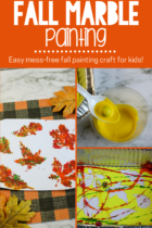 Fall themed marble painting activity.