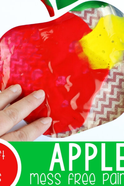 Apple Mess Free Finger Painting Kid's Craft