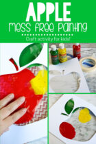 Apple Mess Free Painting Craft Activity For Kid's
