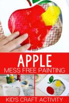 Apple Mess Free Painting Kid's Craft