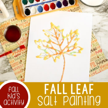Fall Leaf Salt Painting Featured Square