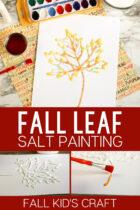 Fall Leaf Salt Painting Kid's Craft