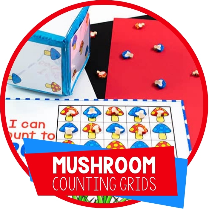 Free Printable Mushroom Counting Grids For Preschool