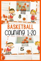 Counting mats using basketball mini erasers.