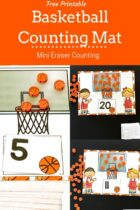 Free printable basketball counting mats.
