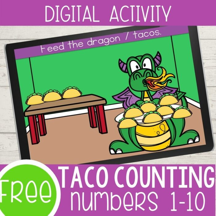 Taco Counting Numbers 1-10 Digital Activity