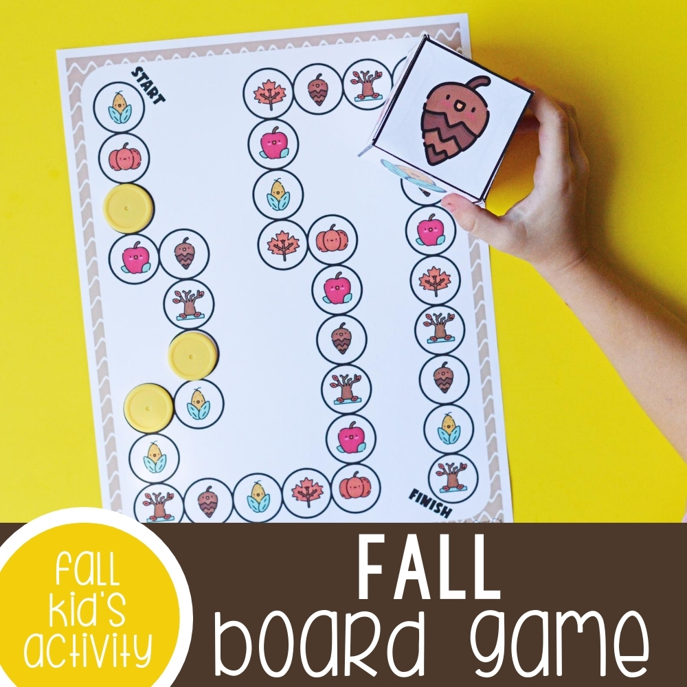 Fall game for preschoolers that can be printed.