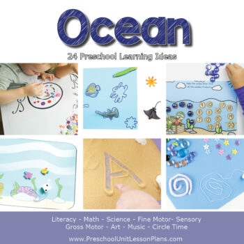 Ocean preschool lesson plans with printables and hands-on activities for math, literacy, social-emotional, science preschool activities