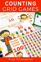 Counting grid games with free printables.