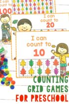 Counting grid games for preschool.