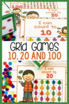 Counting grid games for 10, 20 and 100.