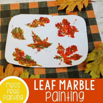 Teach kids how to marble paint with this easy fall activity!