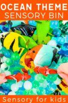 Ocean Theme Sensory Bin For Kids