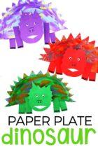 Paper Plate Dinosaur Craft for Preshoolers