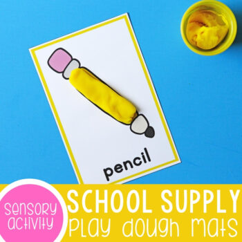 School supply play dough mats printables.