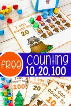 Free Fall Preschool Counting Activity For 10, 20 and 100