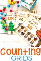Mini Eraser Fall Preschool Counting Activity