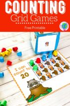 Free Printable Counting Grid Games For Preschoolers