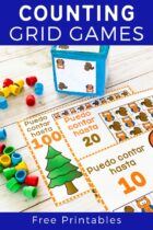 Free Printable Squirrel and Owl Counting Grid Games