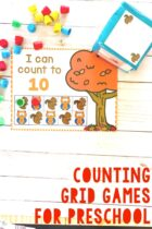 Fall Counting Grid Games For Preschool