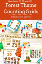 Forest Theme Counting Grids In English And Spanish