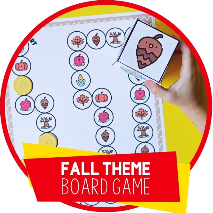 Free Printable Fall Theme Preschool Board Game