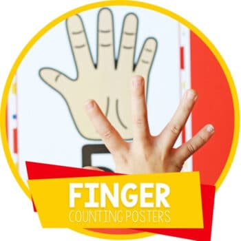 Finger Counting Posters for Numbers 1-10 Featured Image