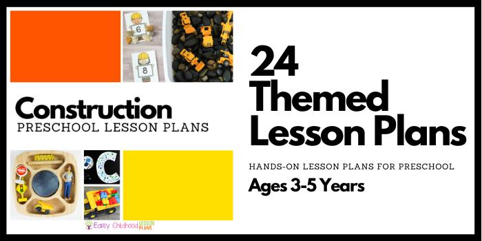 Construction Preschool Lesson Plans
