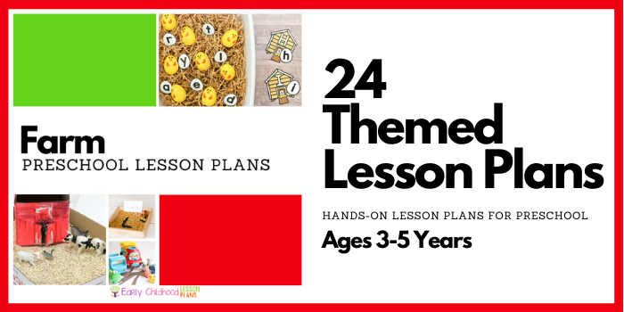 Farm Preschool Lesson Plans