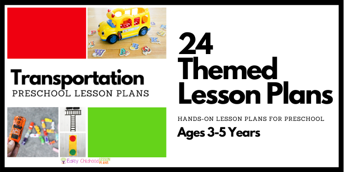 Transportation Preschool Lesson Plans