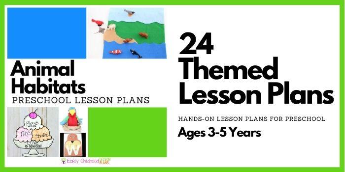 Animal Habitats Preschool Lesson Plans banner image