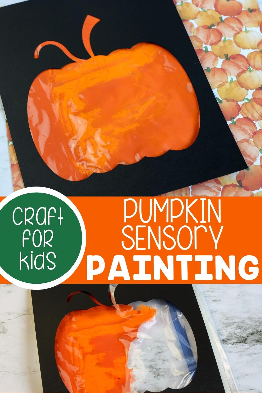 Pumpkin Sensory Paint For Kids
